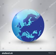 Earth Globe Map World by Earth Globe Icon Map Europevector World Stock Vector 599246924