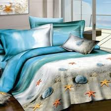 Starfish Comforter Set Beach Themed Bedding Beach Themed Bedding Queen Purple Octopus