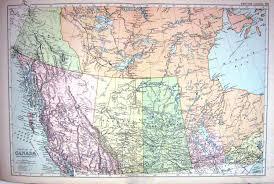 25 print map bacon 1911 western canada yukon albert saskatchewan