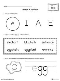 learning the letter e worksheet myteachingstation com