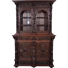 1700 u0027s flemish antique bookcase black forest oak buffet sideboard