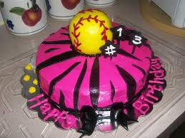 pink girls softball cake cakecentral com
