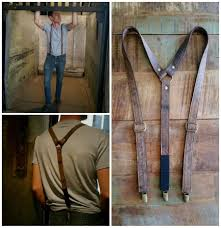 3rd wedding anniversary gifts for brown mocha leather suspender 3rd anniversary gift for third