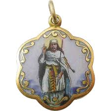 religious pendants religious medal charm pendant rolled gold with porcelain
