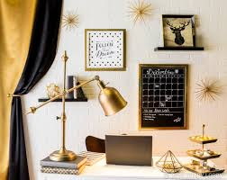 add a touch of gold black and home accents to take your office