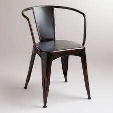 dark distressed jackson metal tub chair world market