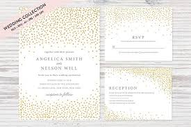 wedding invitation set gold confetti wedding invitation set invitation templates