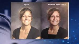yearbook from high school utah high school photoshopped students to make yearbooks less