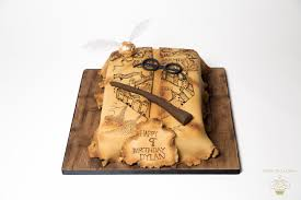 Harry Potter Marauders Map Hand Painted Harry Potter Marauders Map Birthday Cake Luxury