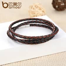 bracelet men leather images Cheap wholesale fashion men leather bracelet men accessories jpg