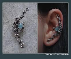 wire ear cuffs siren ear cuff by bodaszilvia on deviantart