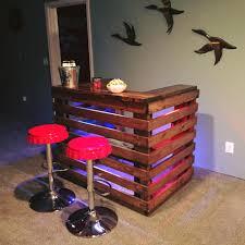 Pallet Patio Furniture Plans - handcrafted pallet bar house ideas pinterest pallet light