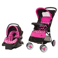 Baby Stroller Canopy by Cosco Lift U0026 Stroll Travel System Minnie Dot