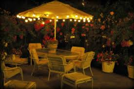 Patio Umbrella Lighting Stunning And Outdoor Umbrella Lights With Custom Lights