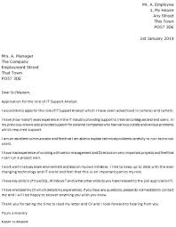 ict technician cover letter
