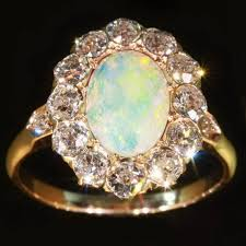 vintage opal engagement rings antique engagement rings gold opal engagement ring unique