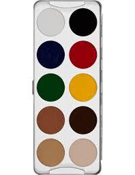 body illustration make up color palette 10 colors kryolan