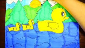 draw ducks pond easy step step kids