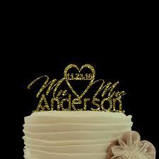 Buy Wedding Cake Aliexpress Com Buy Wedding Decoration Gold Glitter Cake Topper
