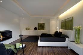 Black Laminate Floor Pleasing White Modern Bedroom With Black And White Interiors On Laminate Floor Design Jpg