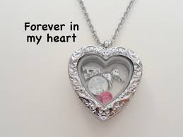 personalized heart locket personalized forever in my heart baby stainless steel floating