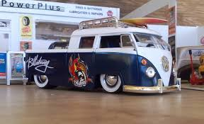 custom volkswagen bus 63 vw pickup bus billabong surfboard kombi 1 24 code 3 ebay