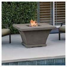 Real Flame Fire Pit - monaco rectangle chat height gas fire pit table cream