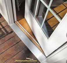 How To Replace Exterior Door How To Install An Exterior Door Threshold Home Design