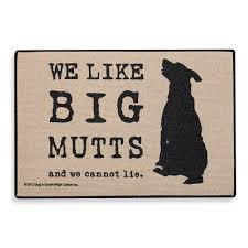 the funny big mutts door mat makes a great gift for any dog lover