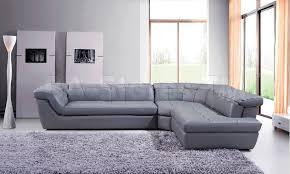 furniture amusing 397 modern grey italian leather sectional