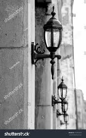 Carriage Light Old Style Carriage Lights On Exterior Stock Photo 212253619