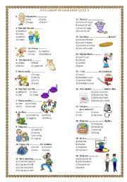 english exercises grade 8 vocabulary quiz