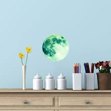 glow in the dark moon wall sticker suitable for kindle tablets walls glow in the dark moon wall sticker suitable