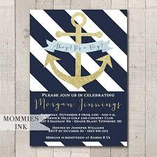 nautical baby shower invitations nautical baby shower invitation navy and white invitation