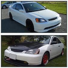 honda civic 2001 coupe for 2001 2003 honda civic 2 4dr coupe sedan headlights jdm black