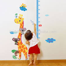 Cute Giraffe Wall Sticker Height Scale Measure Sticker For Baby - Animal wall stickers for kids rooms
