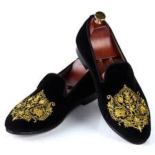 wedding shoes for men blue velvet shoes for men handmade embroidered loafers fashion