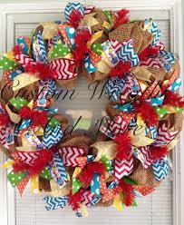 wreath supplies deco mesh wreath supplies dr seuss mesh wreath by