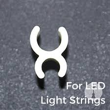 wire frame clips for christmas lights led sculpture clip 1 4 inch white 100 pack