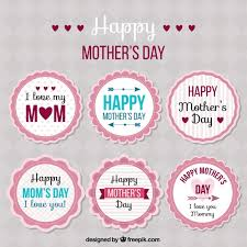 mothers day stickers collection of s day stickers vector free