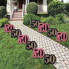 50th birthday decorations chic pink black and gold 50th birthday birthday party theme