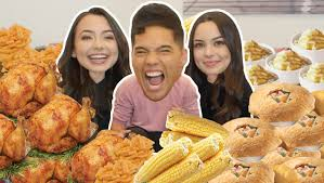 kfc thanksgiving menu ultimate thanksgiving dinner challenge ft merrelltwins youtube