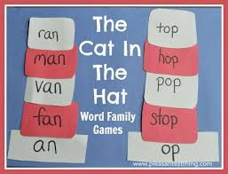 word family hats with the cat in the hat the pleasantest thing