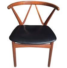 Hansen Patio Furniture by Henning Kjaernulf Bruno Hansen Wishbone Style Teak Chair Chairish