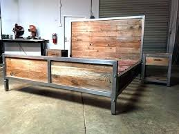 Wood And Iron Bedroom Furniture Reclaimed Wood And Steel Furniture Best Steel Bed Frame Ideas On