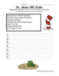 dr seuss worksheets for kids have fun teaching