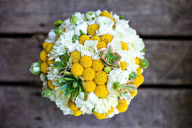 billy balls white green bridal bouquet with billy balls