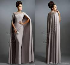 formal evening dresses 2016 elie saab gray with cape ruffles