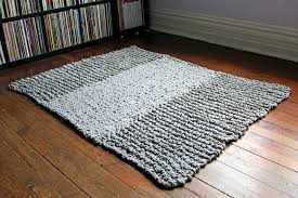 Cable Knit Rug How To Knit A Bulky Knit Rug U2013 Craftbnb