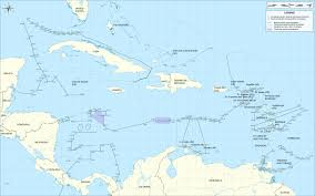 World Map Aruba by A Political Map With The Maritime Borders Of The Caribbean